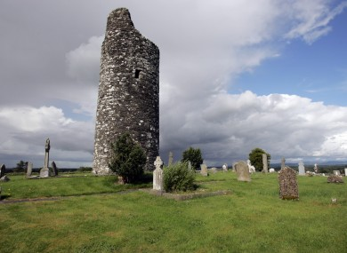 The Round Tower at Old Kilcullen in Co Kildare