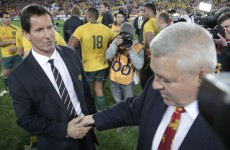 Losing Wallabies coach Robbie Deans: OUT. Ewen McKenzie: IN.
