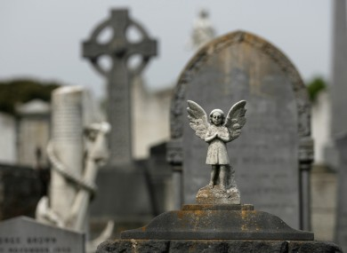 Bethany infants unmarked graves in Mount Jerome Cemetery in Dublin.