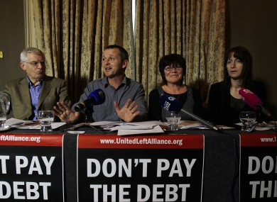Joe Higgins, Richard Boyd Barrett, Joan Collins and Clare Daly all plan to vote against the bill.