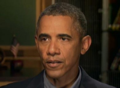 President Barack Obama speaking during an exclusive interview with CNN.