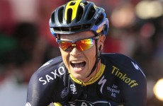 Matthews wins Tour of Spain fifth stage as Roche remains third overall