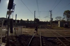 Miracle escape from speeding train caught on CCTV