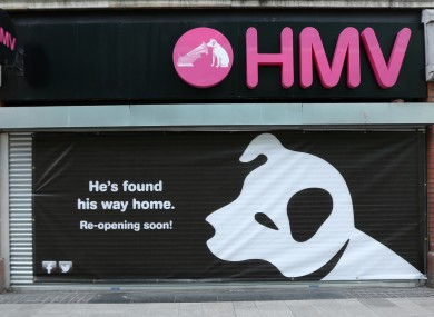 The HMV shop on Henry Street in Dublin.