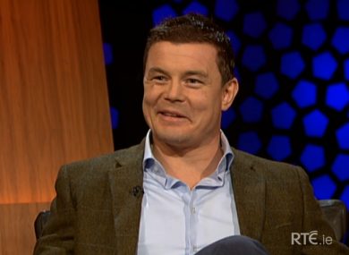 Brian O'Driscoll spoke about rugby, retirement and fatherhood on the Late Late Show.
