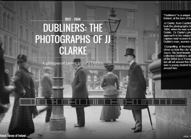 The Dubliners collection from JJ Clarke and the NLI, as featured on Google Cultural Institute from yesterday.