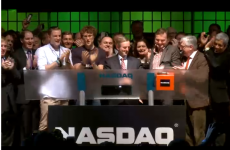 This is what the Nasdaq bell ringing in Dublin looks like