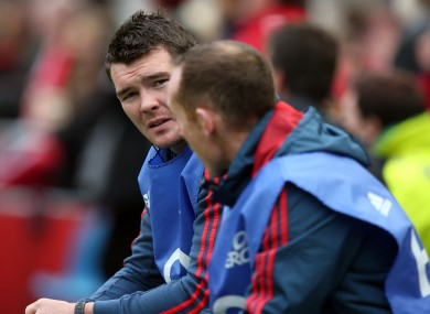 O'Mahony: was rested for last week's defeat in Edinburgh.