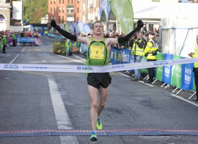 Sean Hehir wins the 2013 Dublin City Marathon.