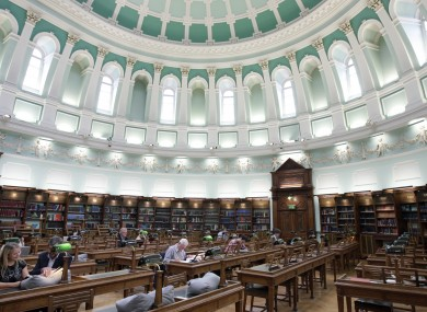 The reading room in the National Library of Ireland in Dublin.