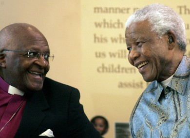 Archbishop Desmond Tutu and Nelson Mandela pictured in 2008.