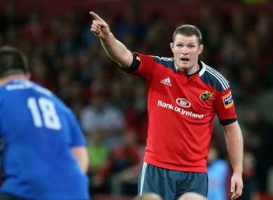 Donnacha Ryan has signed up with Munster until the summer of 2017.