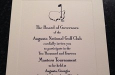 Here's what an official invitation to play the Masters looks like