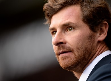 Tottenham Hotspur manager Andre Villas-Boas during the draw with Man Utd yesterday.