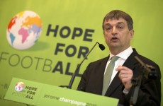 Jerome Champagne, the brilliantly-named FIFA candidate, wants sin bins and orange cards