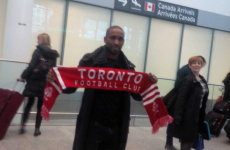 Jermain Defoe had quite the welcoming party on his Toronto arrival