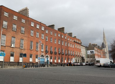 Georgian houses on Parnell Square in Dublin.