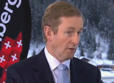 Taoiseach Enda Kenny at Davos