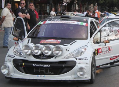 Breen pictured driving a Peugeot 207 in 2012.