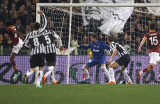 Gervinho scores a match-winning flicked volley against Juventus