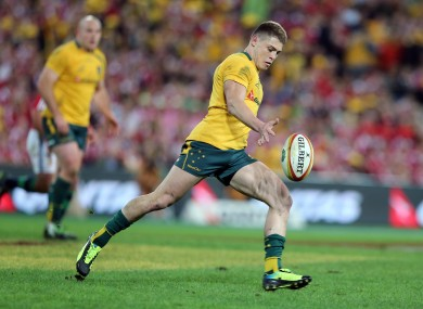 O'Connor was out-half for the Wallabies during the Lions tour.