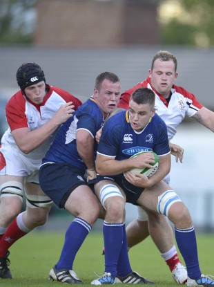 Sexton [carrying the ball here] in action for the Leinster U20 side in 2012.