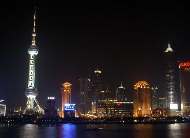 The skyline of Shanghai