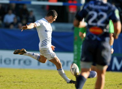 Rob Kearney steps up to deliver three points for Leinster.