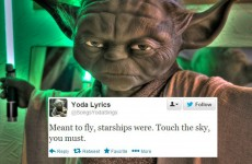 Yoda sings the classics in his own special way on Twitter