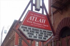 Homophobic church sign in New York blames Obama