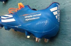 Snapshot: Lukas Podolski's boots have a message for Michael Schumacher