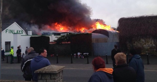 Large blaze at coffin makers in Louth