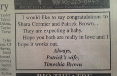 Woman takes out newspaper ad to give husband a whopping burn