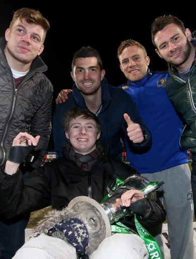 Irish heroes bring Six Nations trophy to charity game in aid of paralysed player