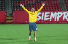 VIDEO: Robbie Keane's classy trick shot into a shopping trolley