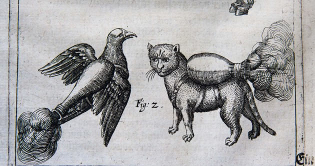 Meet the 16th century jet pack-wearing rocket cats