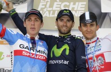 Dan Martin finishes second in gripping Fleche Wallonne finish