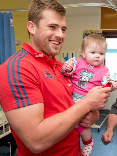 Munster stars visit sick kids in Limerick Hospital