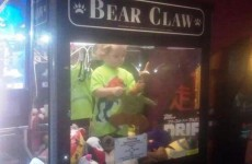 Missing toddler found inside claw machine