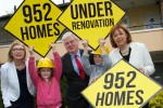 952 vacant houses are to be renovated into family homes