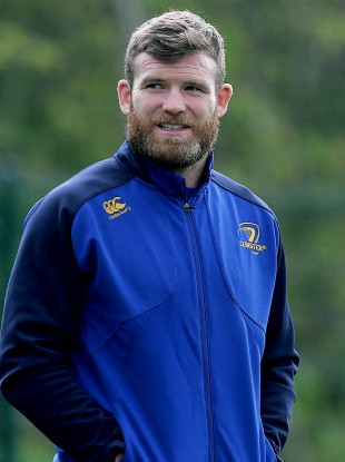Gordon D'Arcy at Leinster's training session on Monday.
