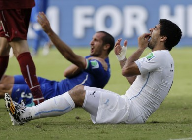 FIFA are looking at Suarez's clash with Chiellini.