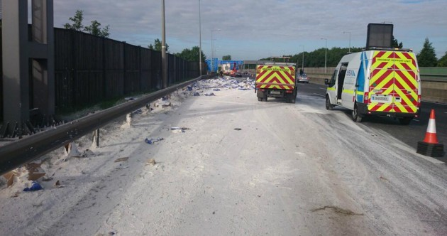 Here's the M50 covered in flour this morning