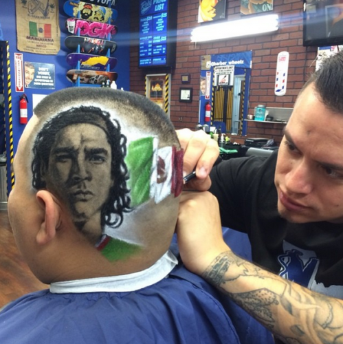 Texas barber turning heads with designs of ronaldo ochoa and world